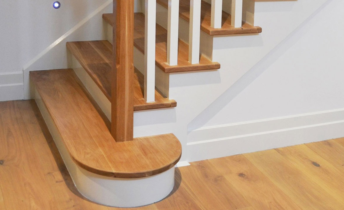 Beautiful A Tread Extension That Softens The Look Of The Staircase.