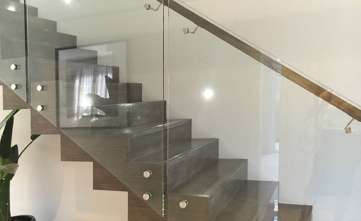 feature glass stairs