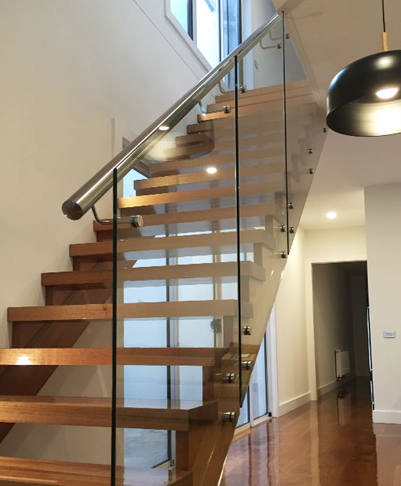 Glass Balustrade Stairs Melbourne Frameless Glass