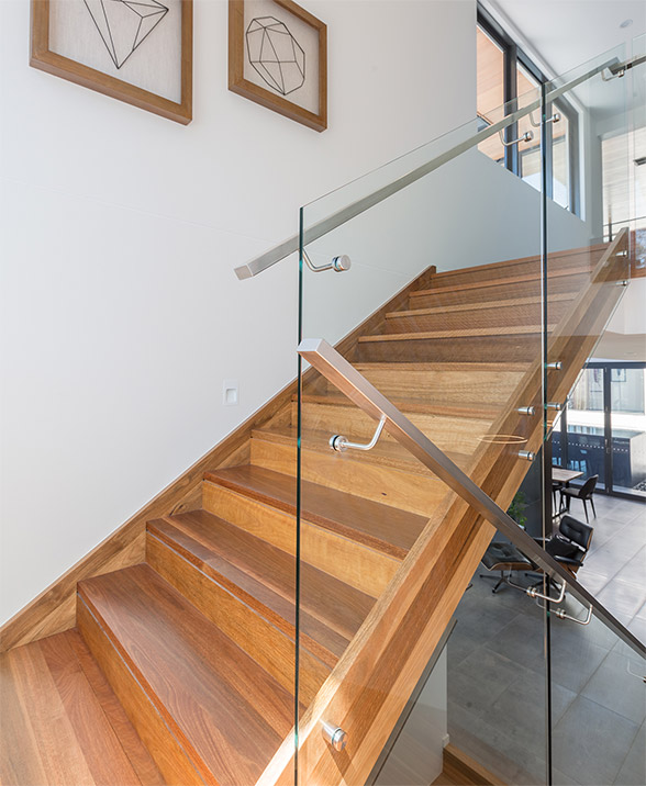 Spiral modern stairs design melbourne contemporary custom for Custom staircase design